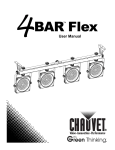 Chauvet 4Bar User manual