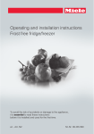 Miele Freezer Operating instructions