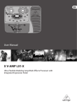 Behringer X V-AMP LX1-X User manual