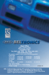 Beltronics Vector 985 Operating instructions