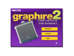 Wacom GRAPHIRE - WINDOWS User`s manual