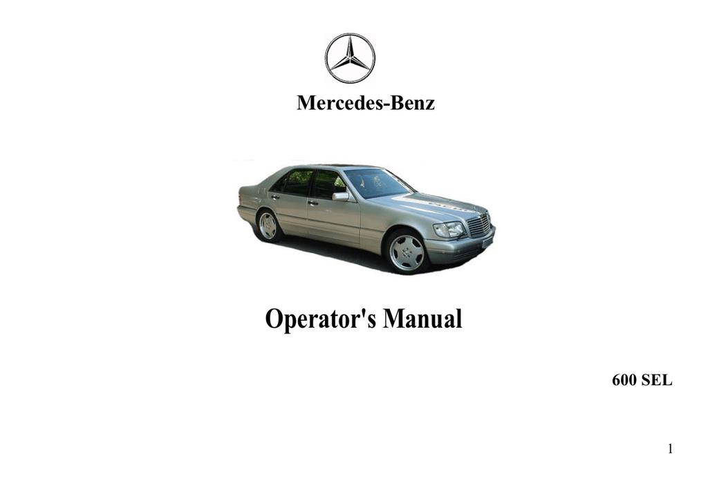 Руководство По Эксплуатации Mercedes-Benz C280