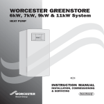 Bosch WORCESTER GREENSTORE Instruction manual