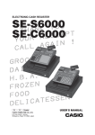 Casio SE-C6000 User`s manual