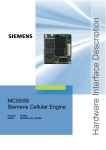 Siemens MC55 Specifications