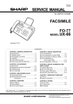 Sharp FO-70 Service manual