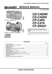 Sharp CD-C420H Service manual