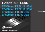 Canon EF 300mm 1:2.8L IS (ULTRASONIC) Specifications