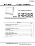 Sharp Aquos LC-15E1U Service manual