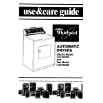 Whirlpool ELECTRIC LE5795XM Operating instructions