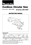 Makita 5093D Instruction manual