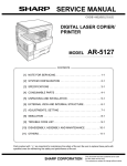 Sharp AR-5127 Service manual