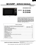 Sharp R-410F Service manual