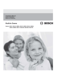 BoschHome HBN34 Installation manual