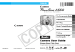 Canon PowerShot A550 User guide