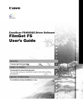 Canon fs4000us User`s guide