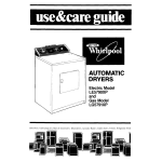 Whirlpool LE5790XP Operating instructions