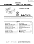 Sharp PGC30XU Service manual