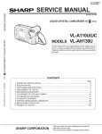 Sharp VL-A110UC Service manual