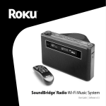 Roku SoundBridge Radio Wi-Fi Music System User guide