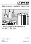Miele KM 490-1 Operating instructions