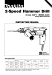 Makita 2-SPEED HAMMER 8401 Instruction manual