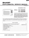 Sharp R-190HK Service manual