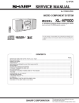 Sharp XL-HP500H Service manual