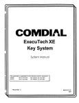 Comdial ExecuTech 0816 Series Specifications