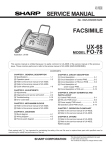 Sharp FO-78 Service manual