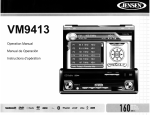 Audiovox VM9413 Owner`s manual