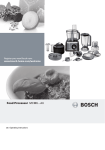 Bosch MCM68861 Operating instructions