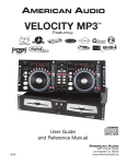 American Audio VELOCITY MP3 User guide