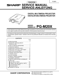 Sharp PG-M20XU Service manual