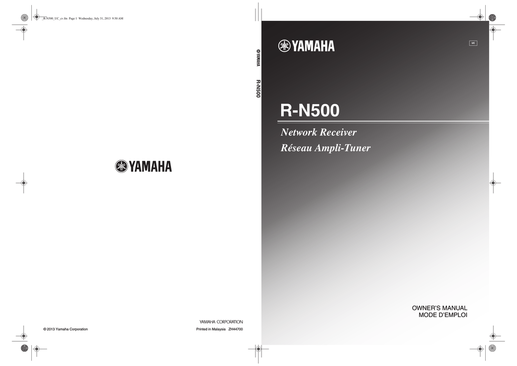 Yamaha R-8 Owner`s manual