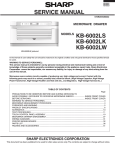 Sharp KB6002LK Service manual