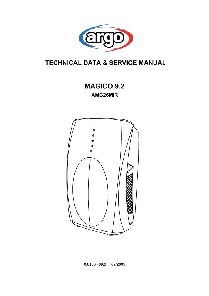Argo Magico 92 Amg26mir Technical Data Relay Wiring Diagram