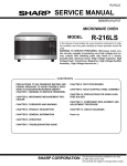 Sharp R-216 Service manual