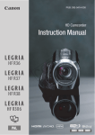 Canon LEGRIA HF R36 Instruction manual