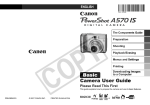 Canon PowerShot A570IS - PowerShot A570 IS Digital Camera User guide