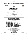 Emerson CF5100ORB00 Owner`s manual