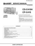 Sharp CP-C410 Service manual