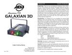 American DJ DMX-512 Instruction manual