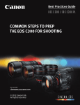 Canon EOS C300 PL Instruction manual