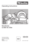 Miele NOVOTRONIC G 856 SC ELITE Operating instructions