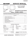 Sharp 25K-M100 Service manual