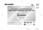 Sharp SD-HX500 Operating instructions