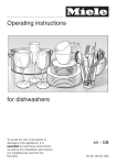 Miele for dishwashers Operating instructions