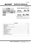 Sharp XL-70C Service manual