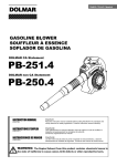 Dolmar PB-250.4 Instruction manual